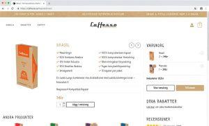 vbcd hemsidor caffesso produkt
