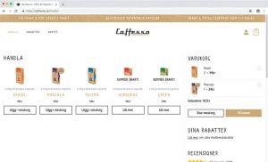 vbcd hemsidor caffesso webbshop exempel